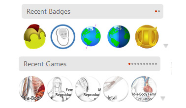 Example of the badges you can earn on Spongelab platform